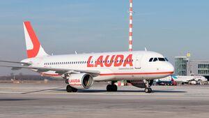 Airbus von Lauda Motion in Düsseldorf