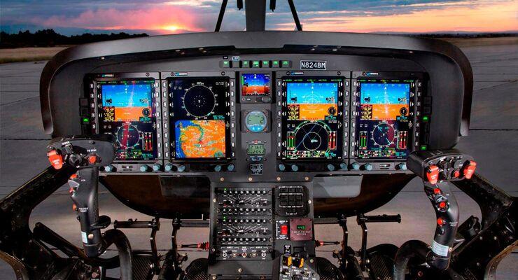 Leonardo TH-119 Helikopter: Genesys Aersystems Cockpit für IFR-Betrieb.