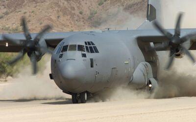 Lockheed Martin C-130J Hercules.